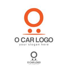 O car logo. O letter logo vector. Flat logo design.