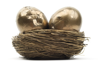 Cracked Gold Nest Eggs