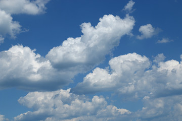 Blue sky with clouds background, sky with clouds.