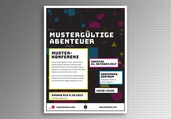 Mustergültige Abenteuer – Flugblatt