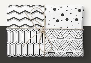 Conjunto de patrones geométricos llamativos