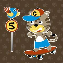 funny skater cartoon