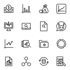 Statistics icon set
