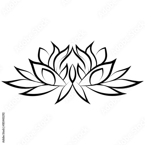 Lotus Flower Silhouette Stock Image And Royalty Free Vector Files