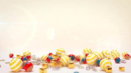 Lying Celebratory Striped Balls