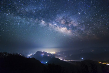 Milky way over Pokhara valley