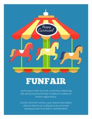 Funfair Advertisement Poster Vector Illustration