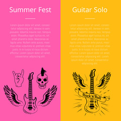 Summer Fest and Guitar Solo Collection of Banners