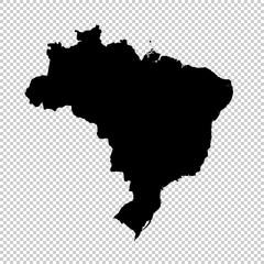 Vector map Brazil. Isolated vector Illustration. Black on White background. EPS 10 Illustration.....