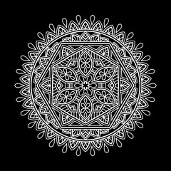 Mandala pattern white