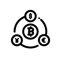 Bitcoin currency vector icon