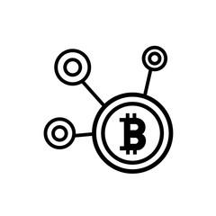 Bitcoin network vector icon