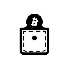 Bitcoin wallet vector icon