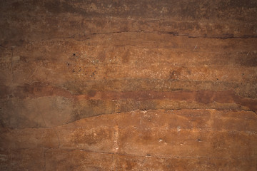 Brown rock texture with natural pattern