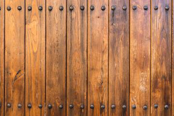 Old door texture with nails.