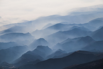 Morning view pattern at bromo mountain, east java, indonesia