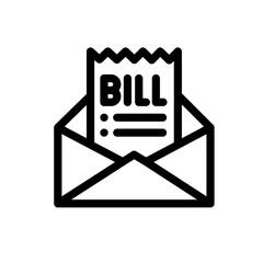 Bill vector icon