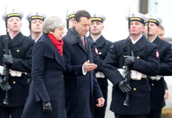 British PM Theresa May visits Poland