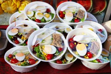 Traditional noodles - padthai street Thai food
