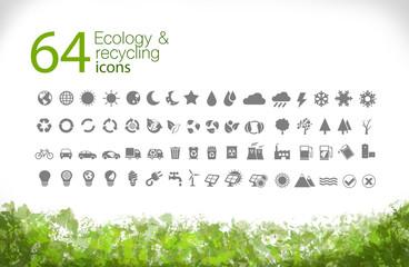 Iconos medio ambiente (gris)