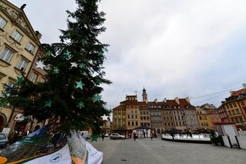 ポーランドのワルシャワのクリスマス