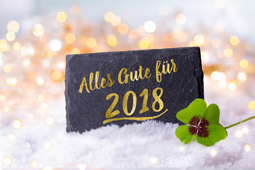Silvester, Neujahr 2018  -  Grußkarte, Neujahrsgruß