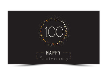 100 years Happy Anniversary card. Vector illustration