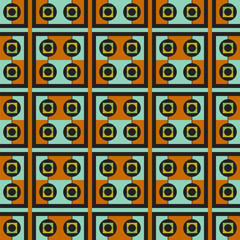 abstract seamless pattern of squares and circles