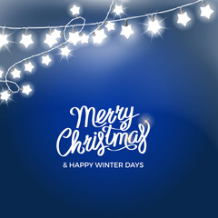 Merry Christmas and Happy Winter Days Poster