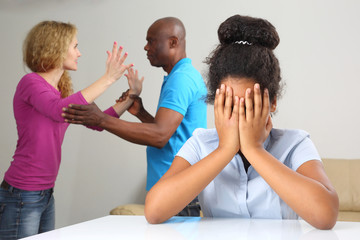 the parents in the family conflict out of the relationship with the teenage daughter.