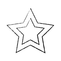 star cartoon icon image vector illustration design  black sketch line