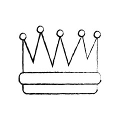 royal crown icon image vector illustration design  black sketch line