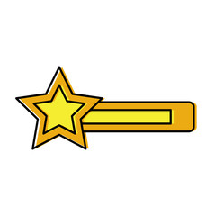 star bar video game related icon image vector illustration design