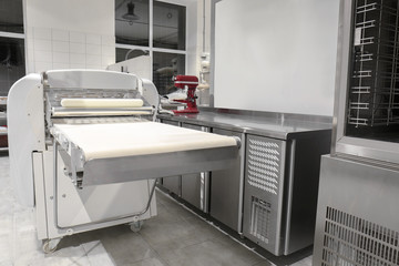Modern equipment in bakery
