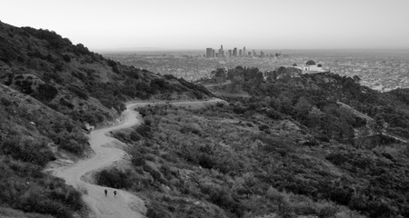 People Trail Dante's View Hollywood Hills Los Angeles California