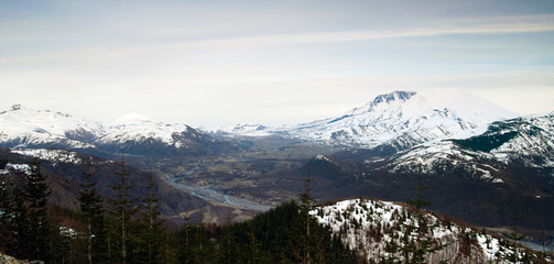 Mount St Helens Mount Adams Skamania County Washington State