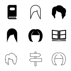 Different icons. set of 9 editable filled and outline different icons