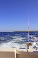 Deep sea fishing in the Caribbean
