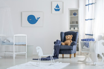 White baby room interior