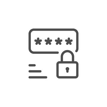 Password line icon
