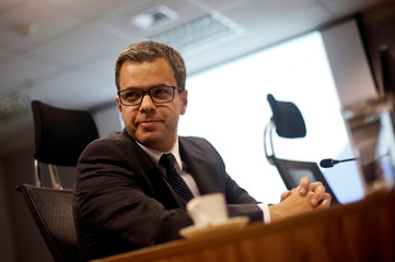 Director of Brazil's ANAC Juliano Noman is seen during an interview with Reuters in Brasilia