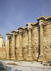 Library of Hadrian in Athens. Greece