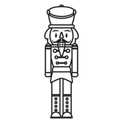 Vector cartoon cute nutcracker isolated