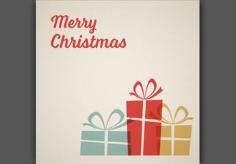 Retro Christmas Card Layout 1