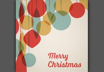 Retro Christmas Card Layout 2