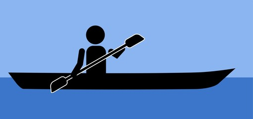 pictogram of a kayaker on the water
