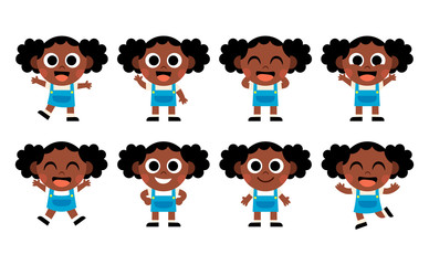 Vector Cartoon Cute Kid Isolated