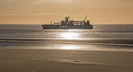 Schiff Norderney Sonnenuntergang