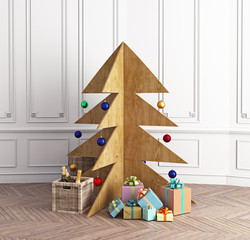 Plywood Christmas tree