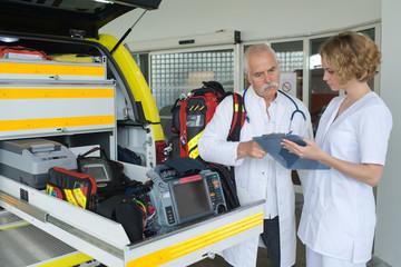 doctors and ambulance